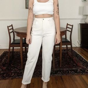 White Vintage High Waisted Pants